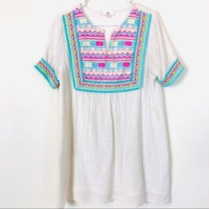 Entro Embroidered Dress Size Small